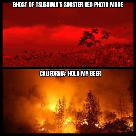 CA Fires - meme