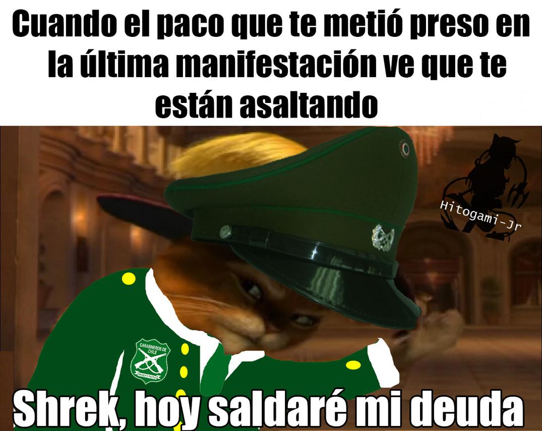 Pacos = Policias Preso = Ir a la cárcel Pico = Pan que lee - meme