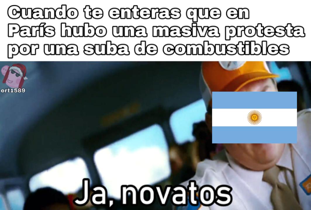 En Argentina suben la nafta cada 3 días - meme
