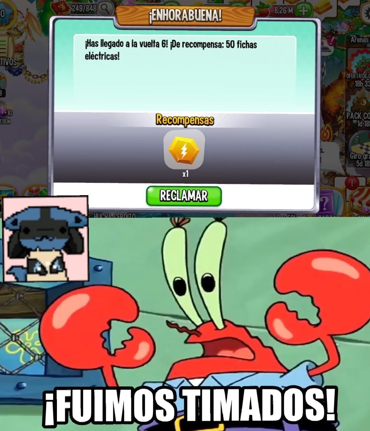 FUIMOS TIMADOS - meme