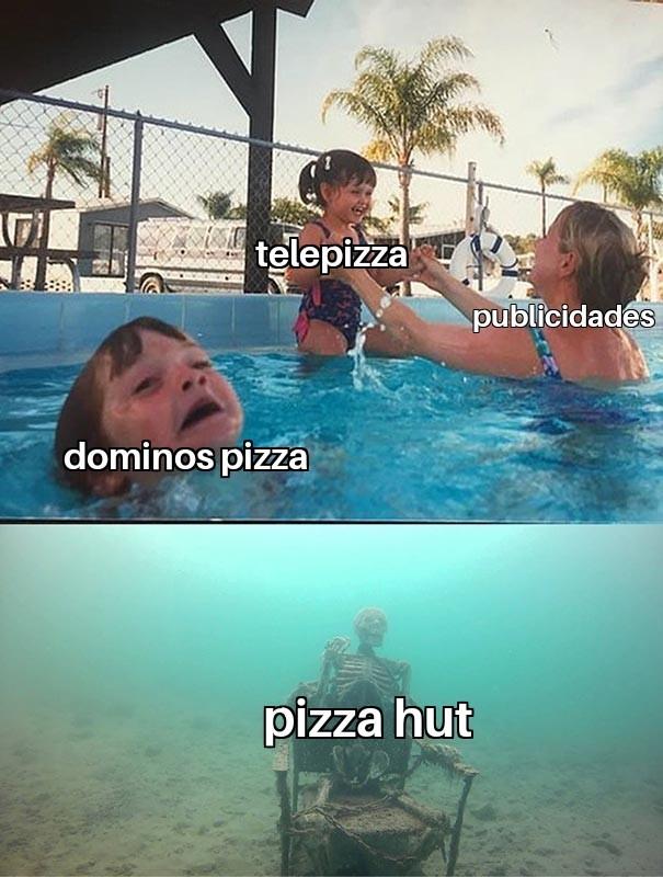En España el pizza hut está muerto - meme