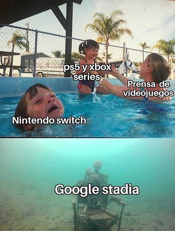 Aún existe Google stadia? - meme