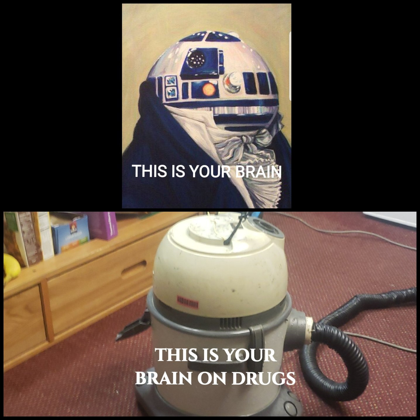 You really let yourself go R2D2 :/ - meme