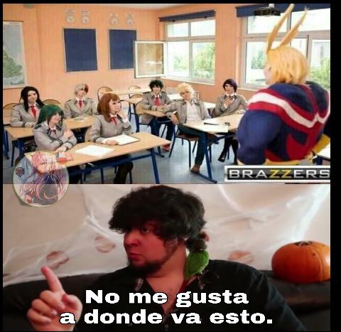 Perdón que el meme sea otaku (anime: boku no hero)