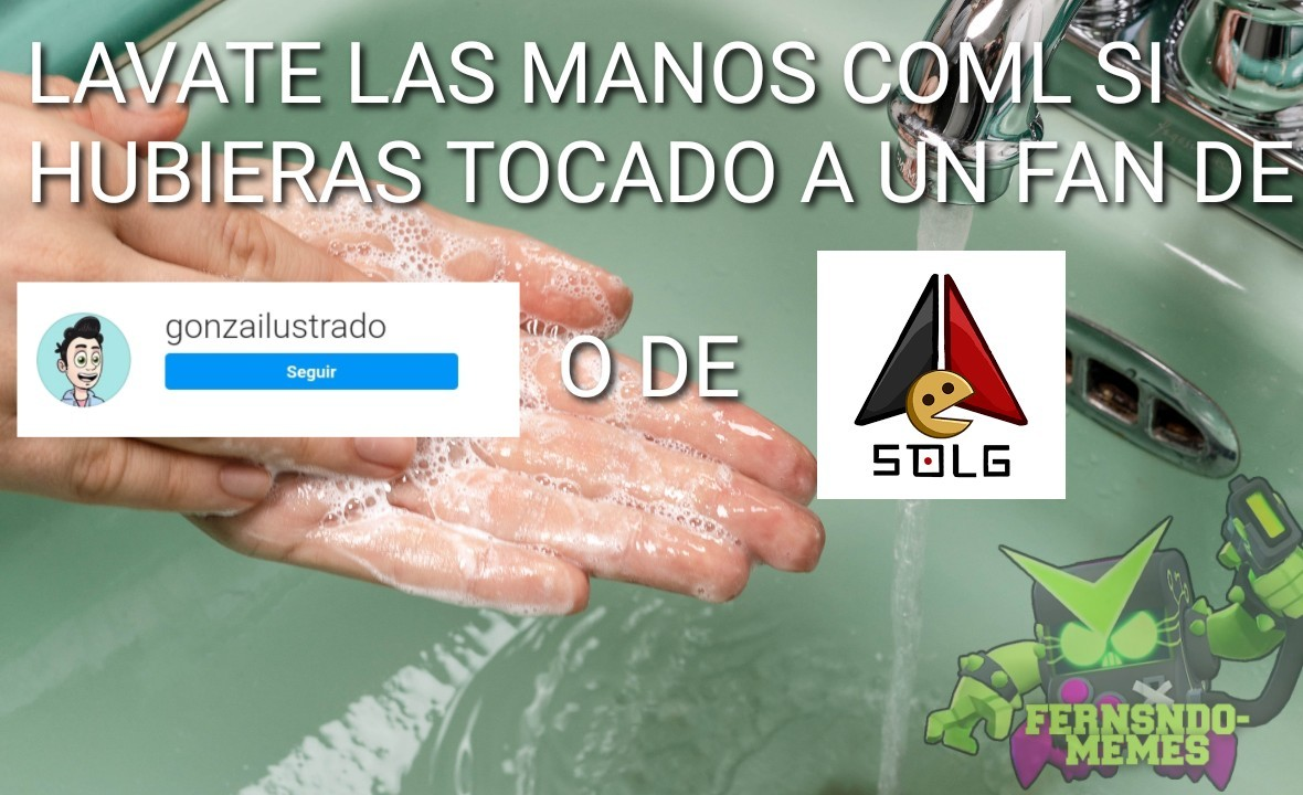 Lavate las manos - meme