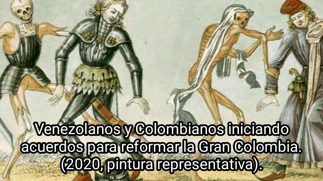 Este es el inicio de una historia de memes acerca de la reformación de la Gran Colombia