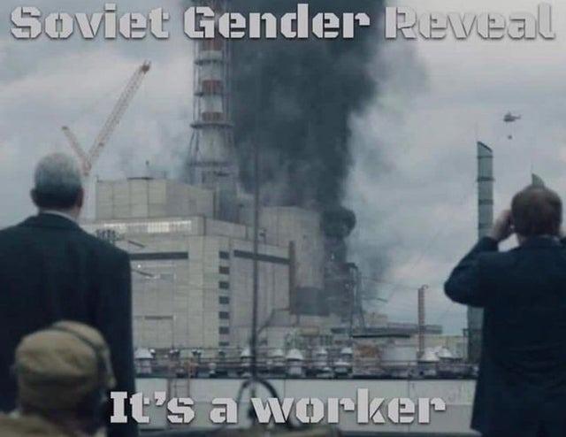 Soviet gender reveal - meme