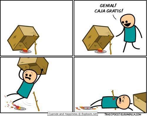 No te fies de las cajas -.- - meme
