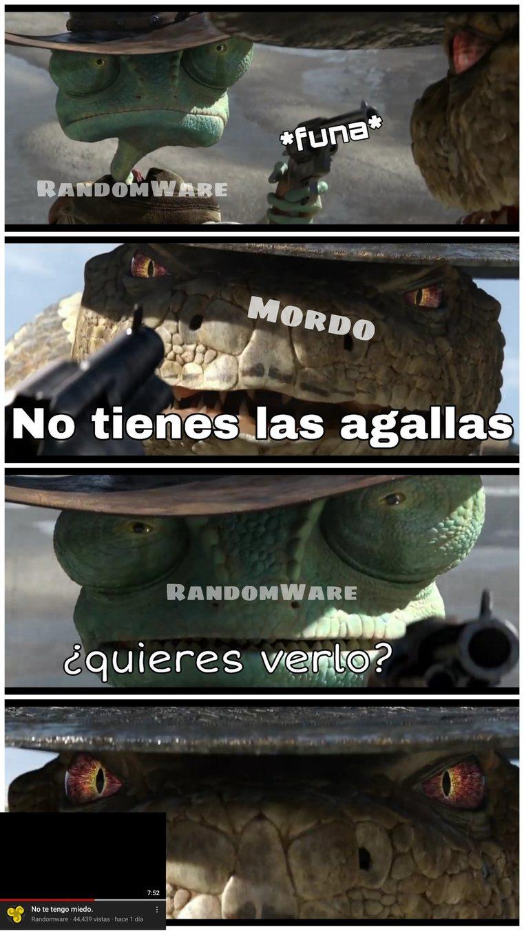 Contexto: Mordo,el creador de la parodia de Rayman - Funado,es un enfermo mental - meme