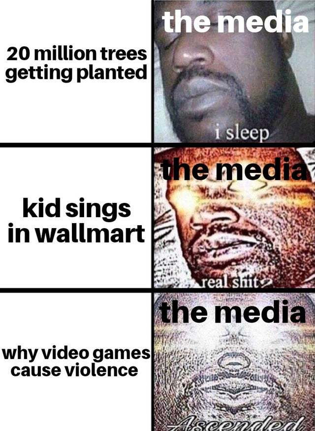 Video games vs the Media - meme