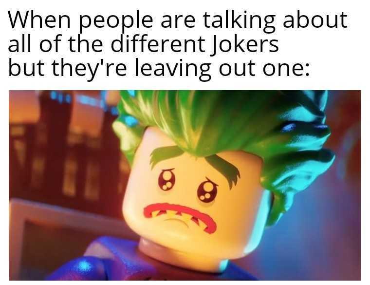 Nous ne t'oublirons pas Lego Joker  :,( - meme
