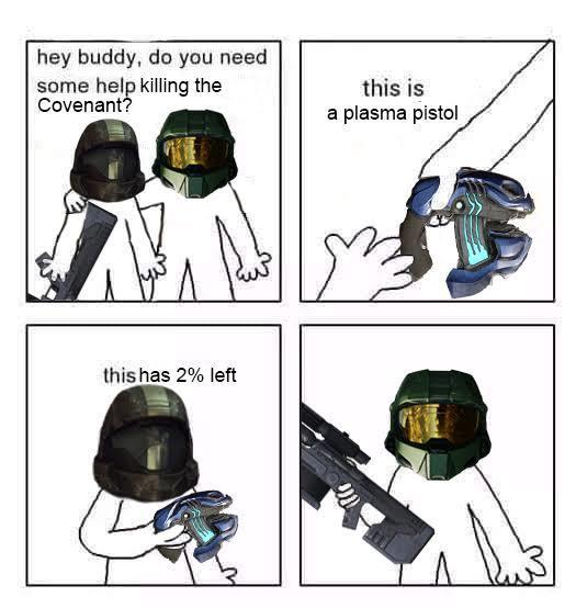 pistola de plasma>ghost - meme