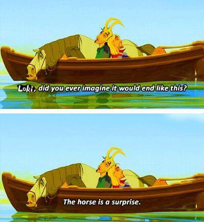"""""""The horse is a surprise"""" - meme"""