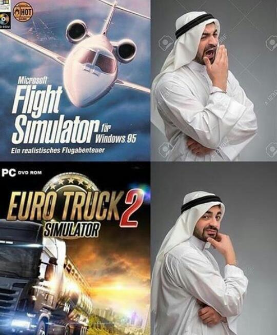 Simuladores - meme