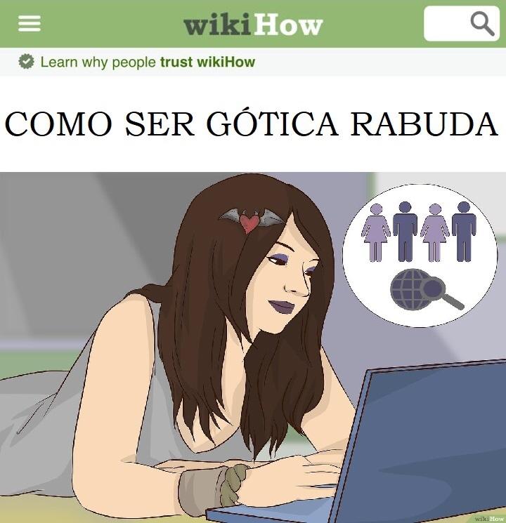Como Ser Gótica Rabuda - meme