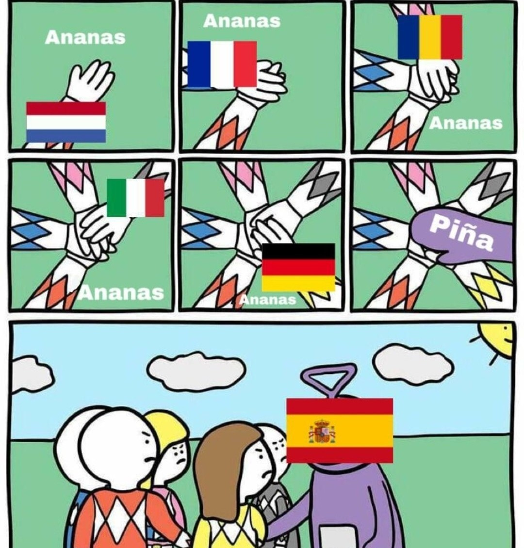 Reino Unido: P I N N E A P P L E - meme