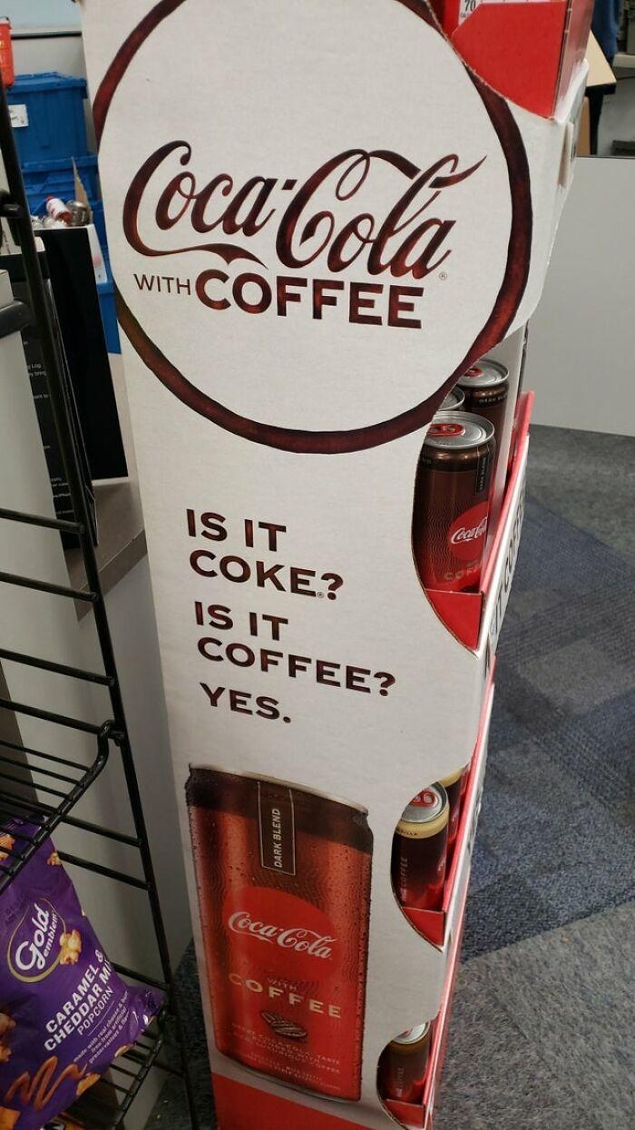 Wait that wasn't coke cola I put in my coffee - meme