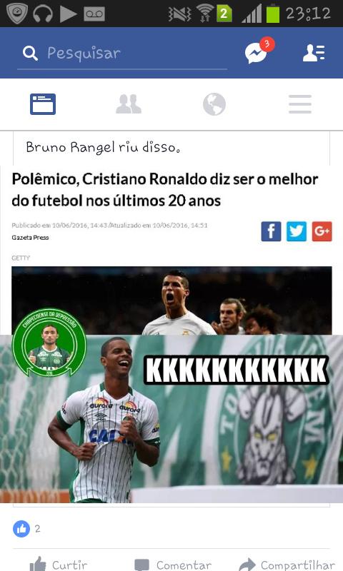 Cristiano Ronaldo so serve pra joga pelada (levem na zueira) - meme