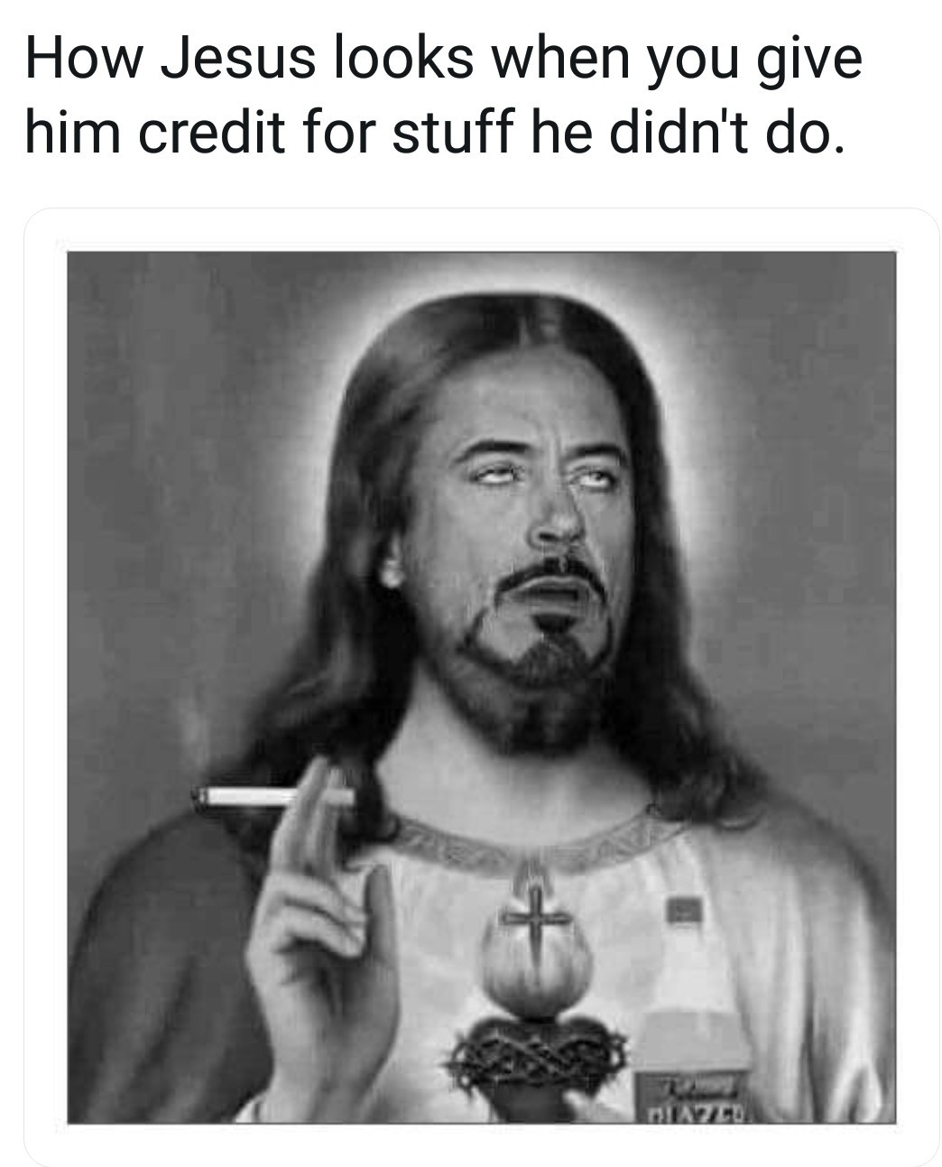 Jesus downy jr - meme