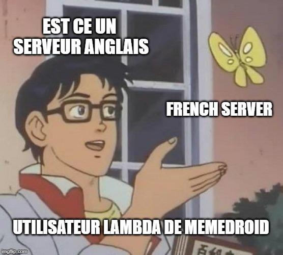 Dédicace à tous ce qui poste leurs meme en anglais