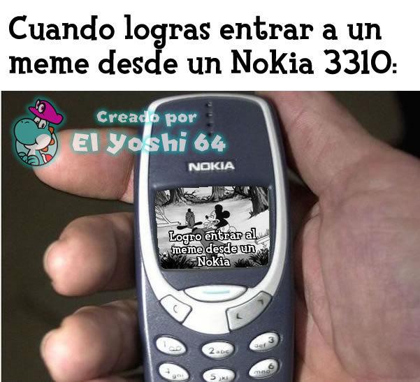 Mi primer meme del Nokia, y el primer meme que hago con la fuente de Animal Crossing