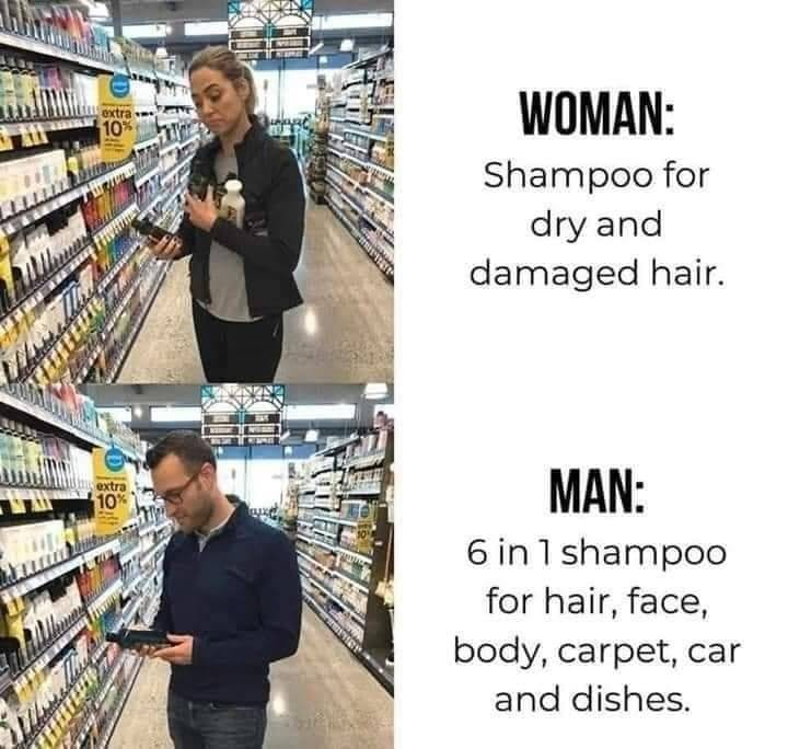 Men know how to save money - meme