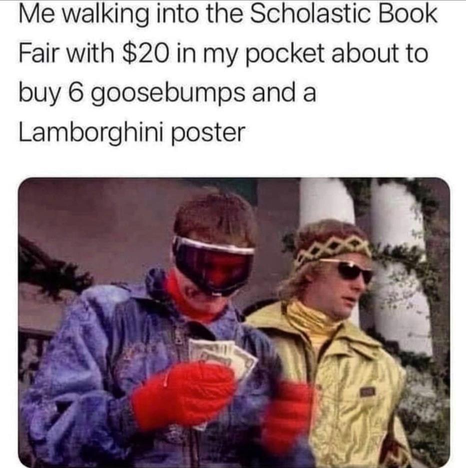 Yup, the Lambo Countach was my jam - meme