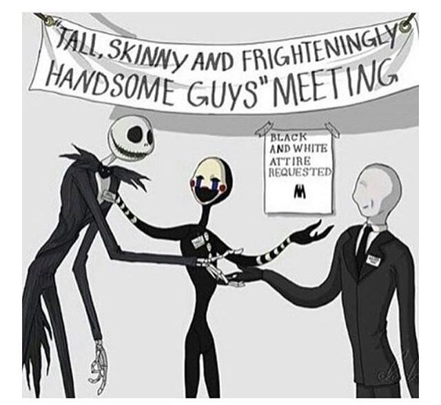 encontro de caras altos, assustadores e elegantes - meme