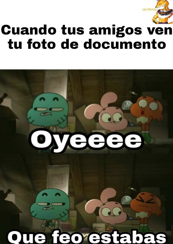 Foto de documento - meme