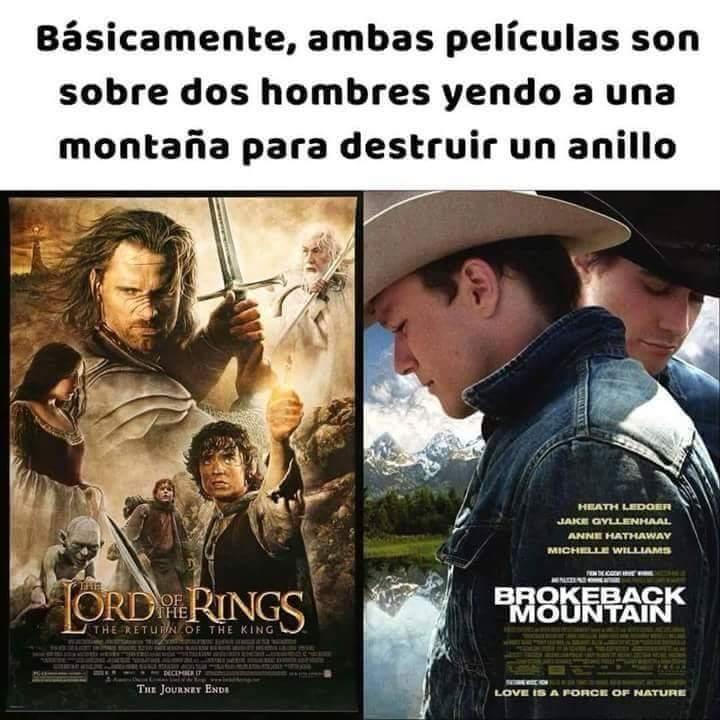 El señor de los anillos - meme