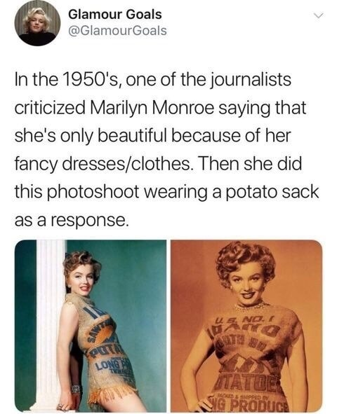 God damn Marylin Monroe is still America's number 1 sweetheart - meme