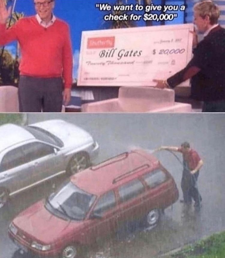 that money could have bought garlic bread - meme