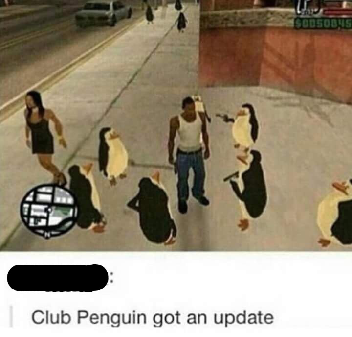 Club Penguin - meme