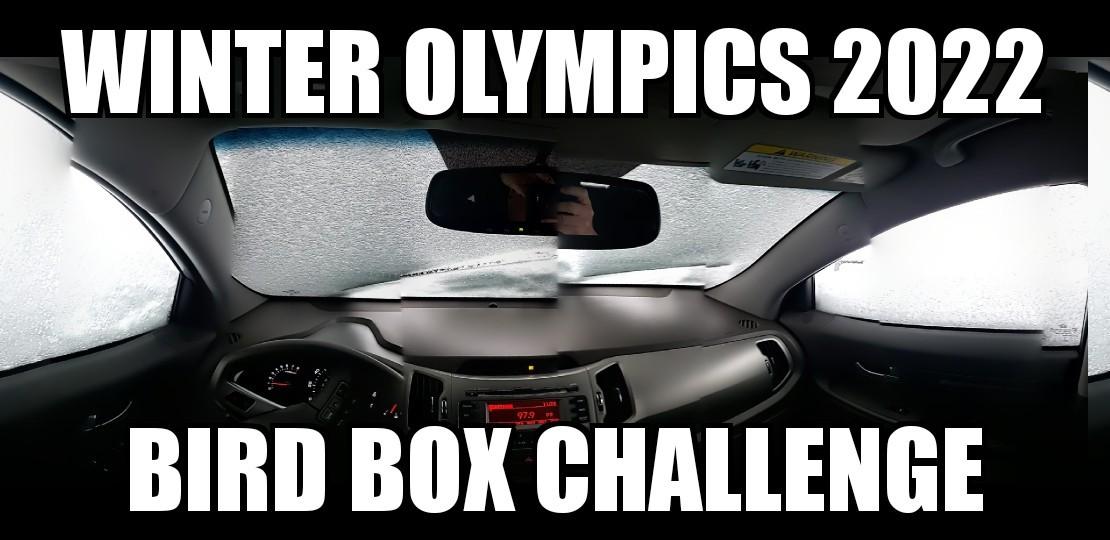 Winter Olympics Bird box challenge - meme