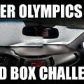 Winter Olympics Bird box challenge