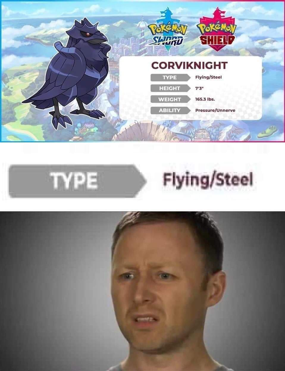 Croviknight looks dope, hope he's gonna be good ingame. I really like most of the new pokemon designs - meme