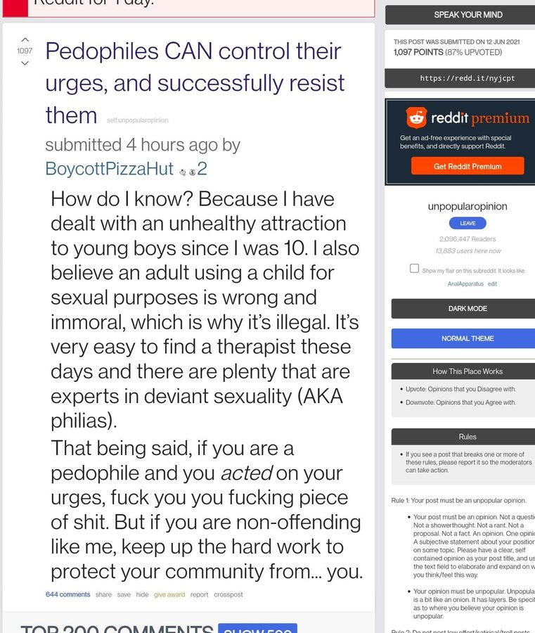 Reddit fags trying to normalize pedos....pedos need to die - meme
