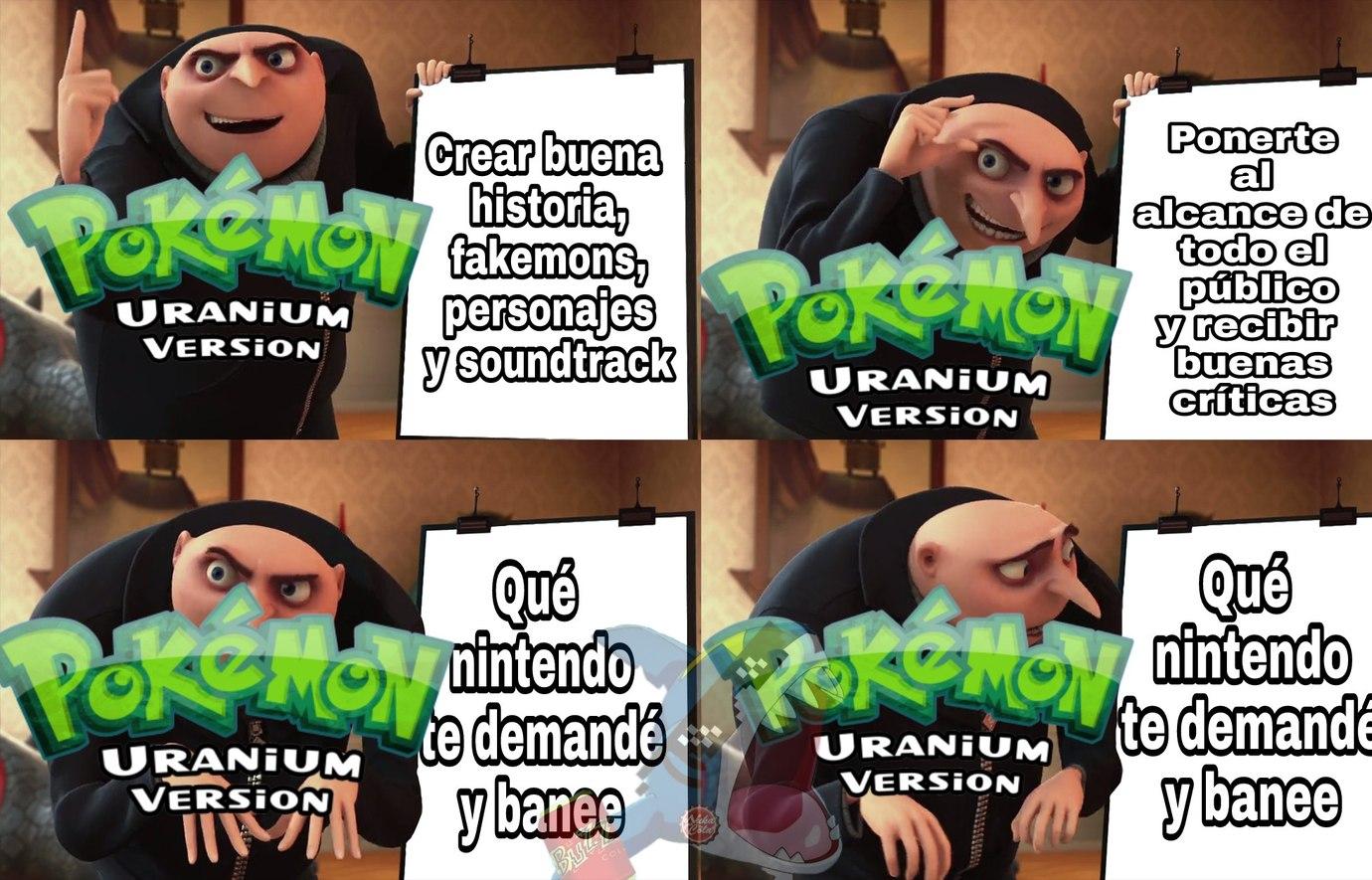 Que juegazo es el Pokémon Uranium - meme