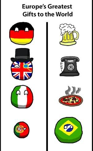 Os maiores presentes da europa para o mundo - meme