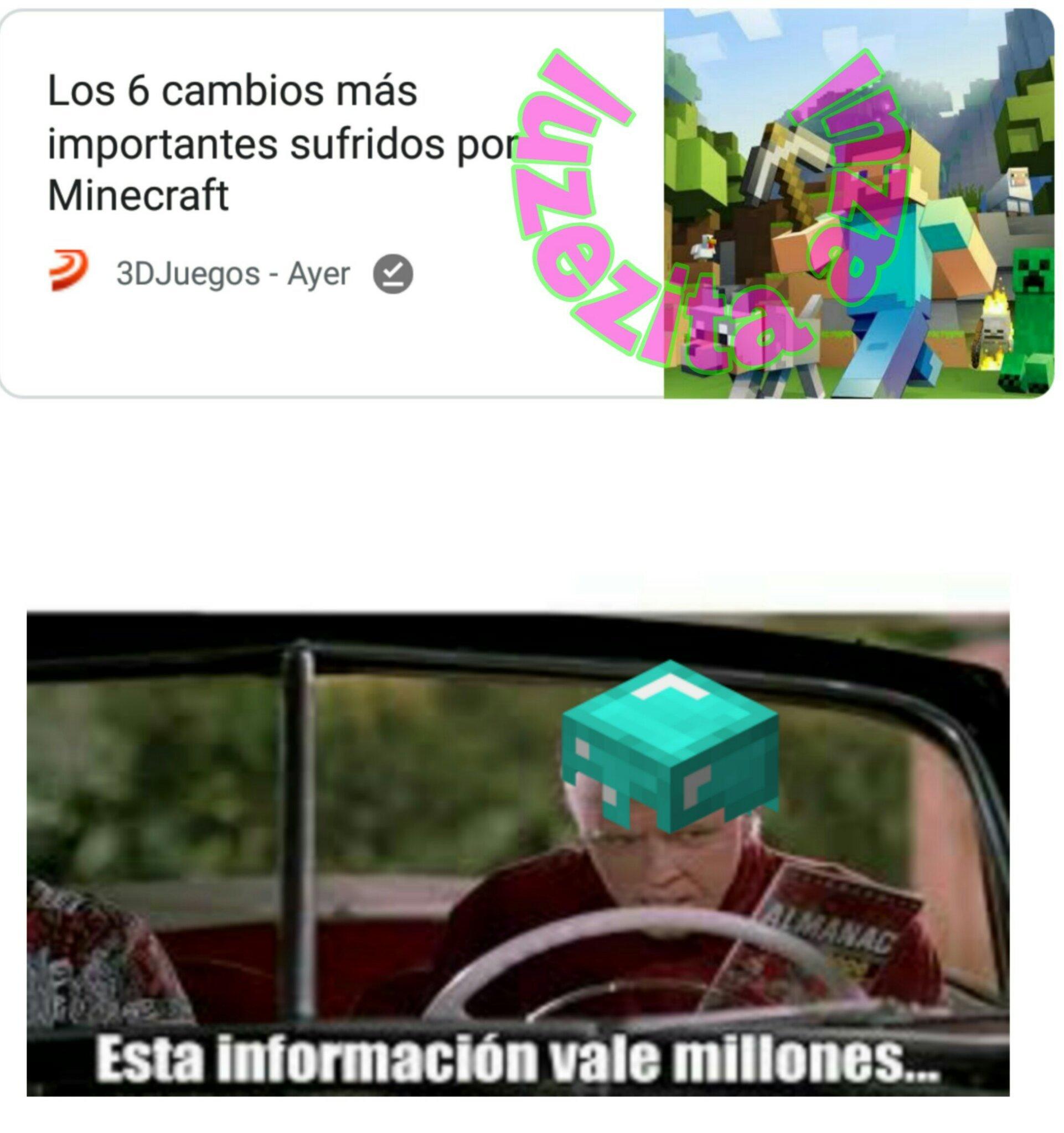 El meme esta picando diamante