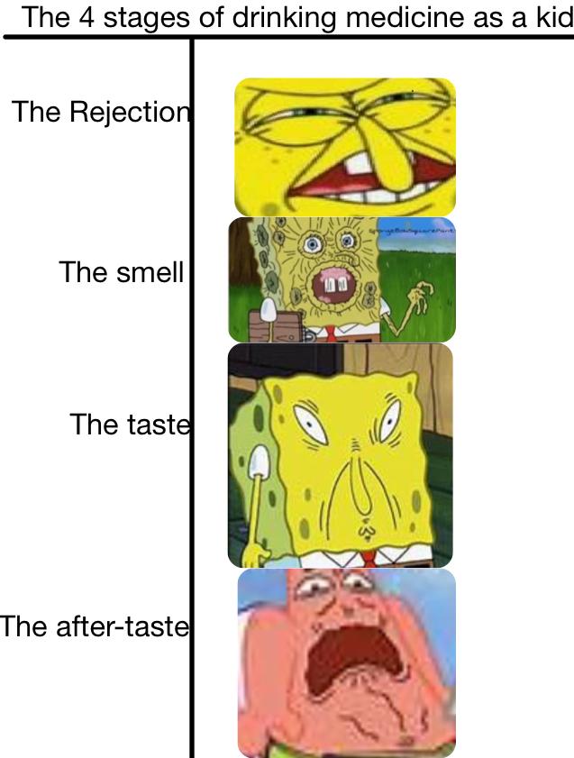 Drinking medicine - meme