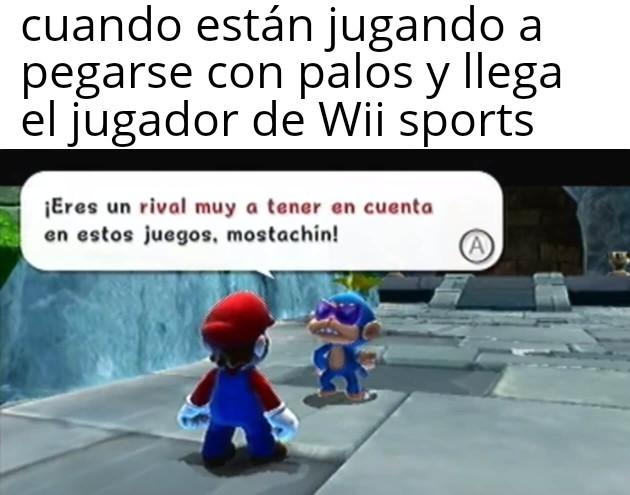 Mario hablando con una Peruano - meme