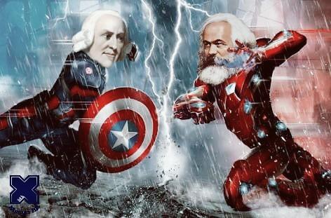 quando seus heróis favoritos lutam e você tem que escolher um lado - meme