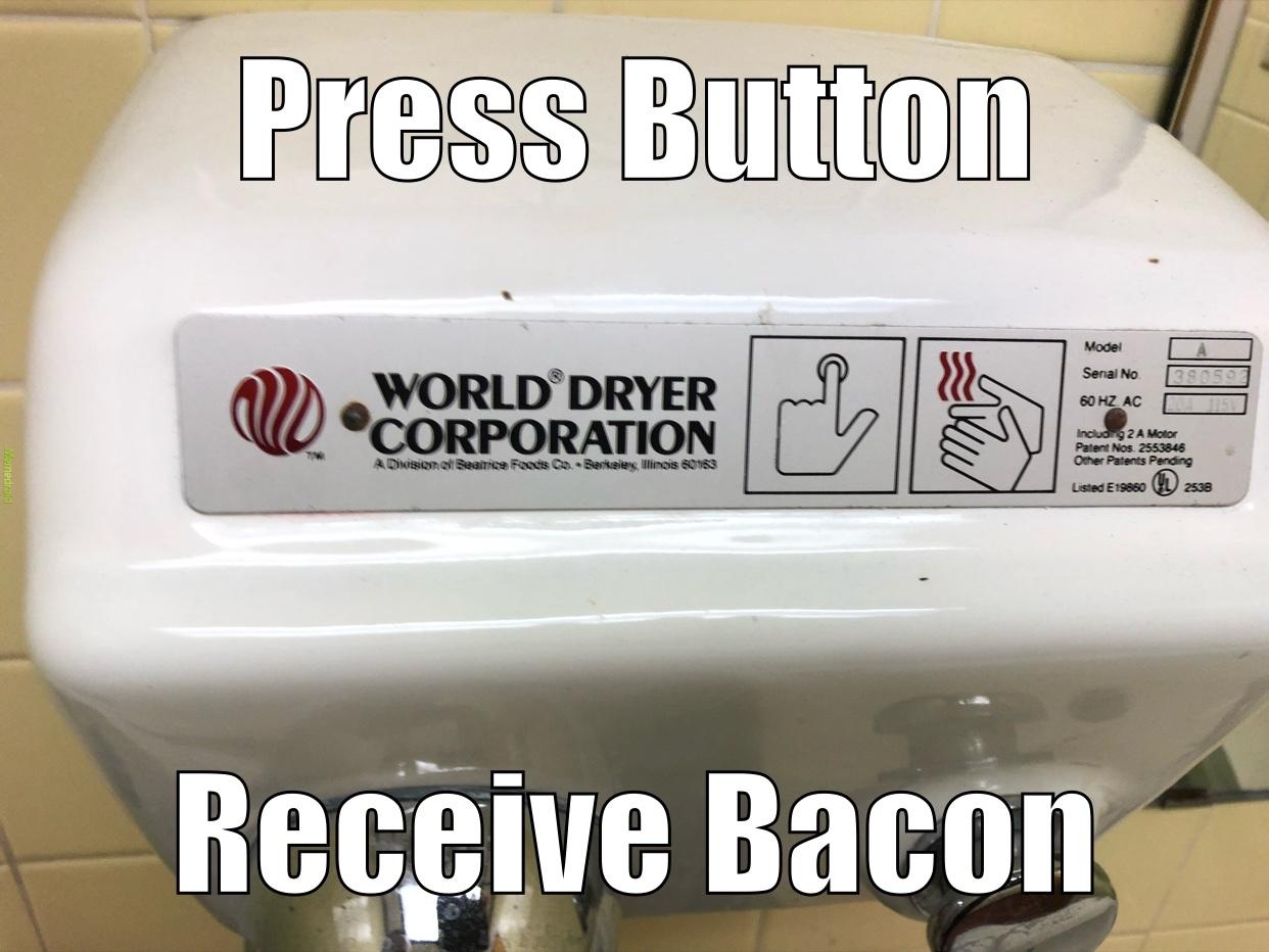throwback bacon - meme