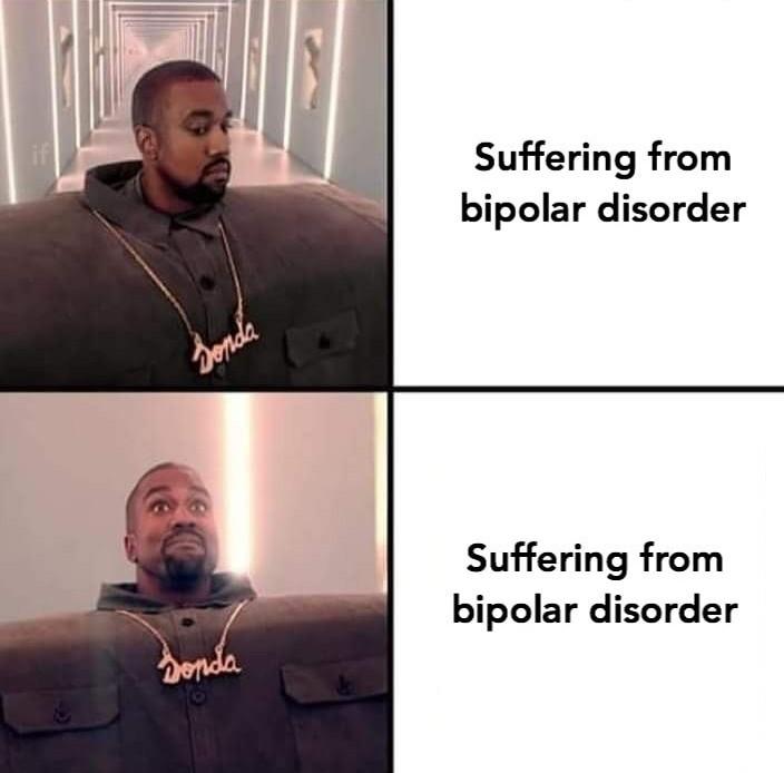 Bipolars be like - meme