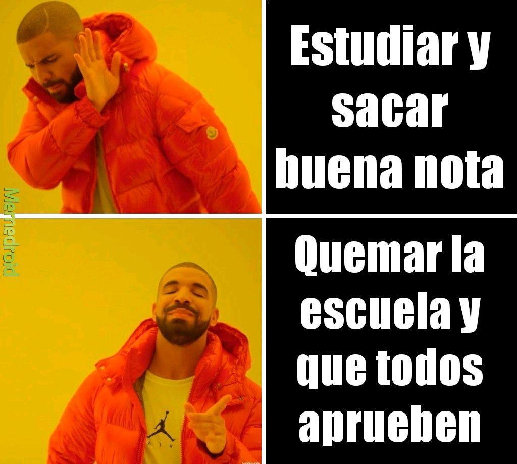 Escuela - meme