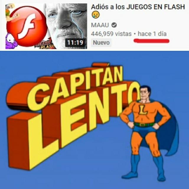 Ya dejen morir en paz al Adobe Flash - meme