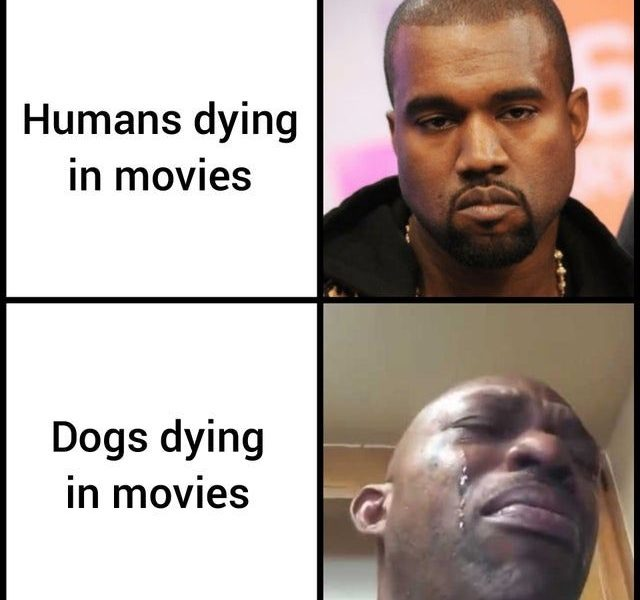 i cry when my favorite character die - meme