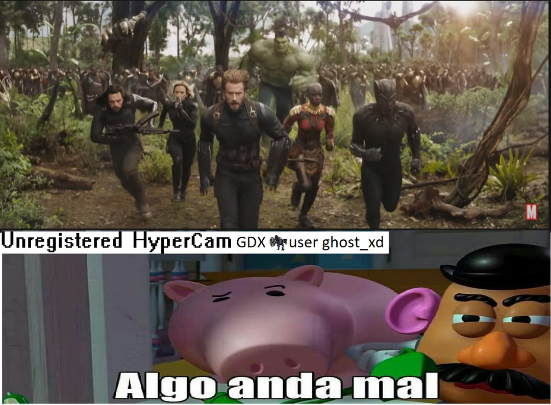 para el que no entendio,en el trailer de infinity war hulk esta en wakanda y SPOILER:hulk no aparece en wakanda solo usa una armadura de tony stark  bruce banner - meme