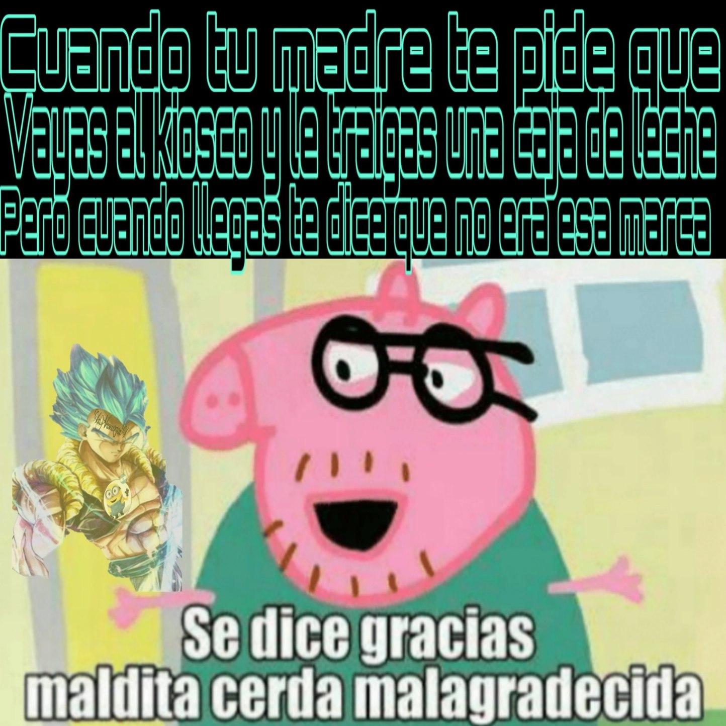 Peppa Pig es dios - meme